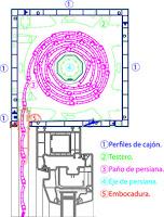 Sección de persiana Monoblock