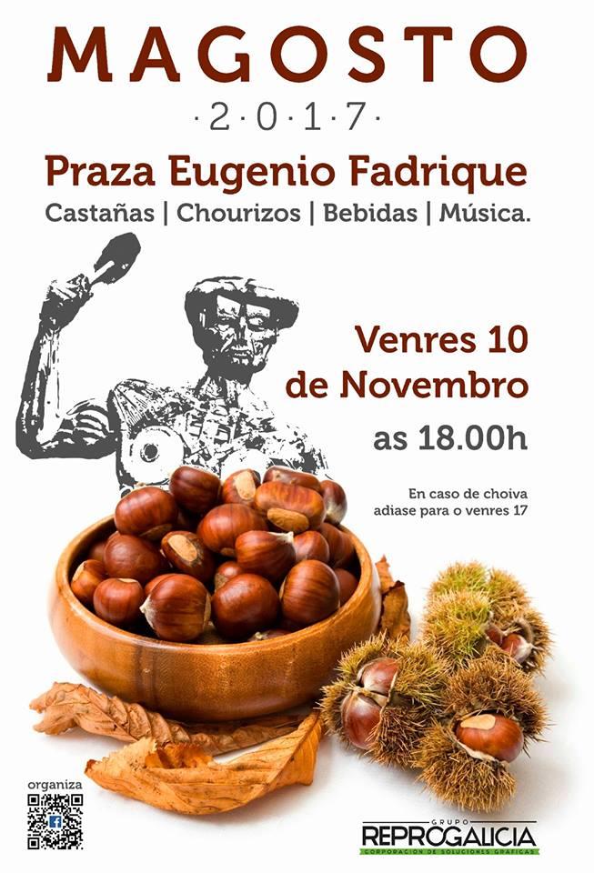 Cartel Magosto 2017 en Plaza Eugenio Fadrique, Vigo